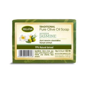 0014.01 - KL0204 Traditional pure olive oil soap aroma jasmine 100gr
