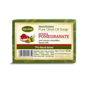 0015.01 - KL0205 Traditional pure olive oil soap aroma pomegranate 100gr0015.01 - KL0205 Traditional pure olive oil soap aroma pomegranate 100gr