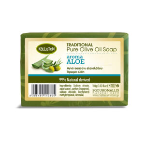 0016.01 - KL0210 Traditional pure olive oil soap aroma aloe 100gr