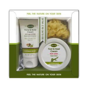 0023.01 - KL1350 Gift box with hand & body cream 50ml + fott & heel cream 75ml + sponge