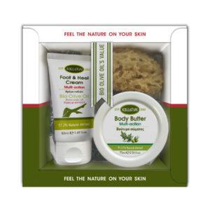 0024.01 - KL1351 Gift box with hand & body cream 75ml + fott & heel cream 50ml + sponge