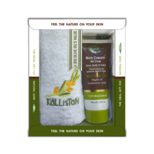 0028.01 - KL1361 Gift box with all over rich cream 100ml + towel