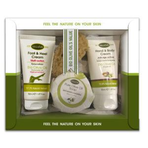0030.01 - KL1363 Gift box with hand & body cream 50ml + foot & heel 50ml + soap 85gr